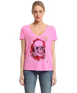 Unravel | Skull Print Destroyed Jersey T-Shirt