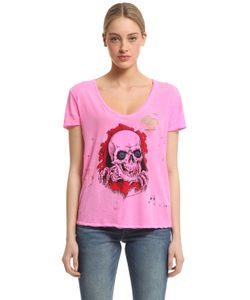 Unravel | Skull Print Destroyed Jersey T-Shirt