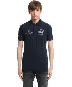 LA MARTINA   Maserati Oberon Cotton Piquet Polo Shirt