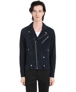 The Kooples | Suede Leather Biker Jacket