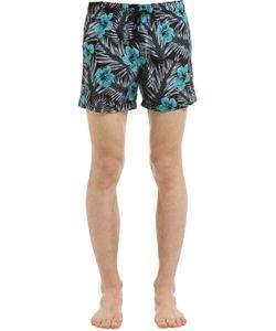 Sundek | Elastic Waist Mid-Length Swim Shorts