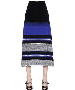 Sportmax | Striped Stretch Rib Knit Midi Skirt