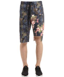 MRKT   Camo Cotton Sweat Shorts