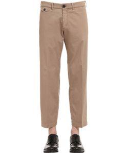 Gabriele Pasini   22cm Stretch Cotton Gabardine Pants