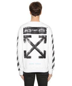 Off-White | Stripes Arrows Logo Cotton Sweatshirt