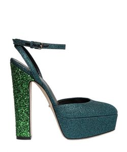 Sergio Rossi | 140mm Crisscrossing Glittered Sandals