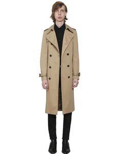 Saint Laurent | Cotton Blend Gabardine Trench Coat