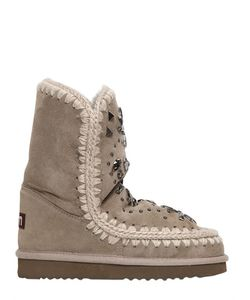 Mou | 20mm Eskimo Embellished Shearling Boots