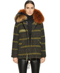 Mr & Mrs Italy | Mrmrs Italy Check Boiled Wool Parka With Murmansky