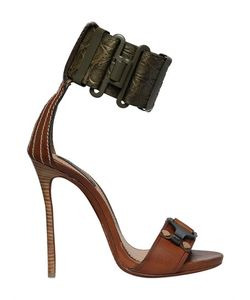 DSquared²   120mm Crocodile Embossed Leather Sandals