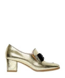 Vivetta | 55mm Metallic Crackled Leather Loafers