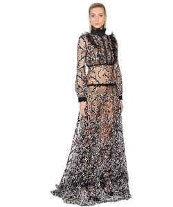 Giambattista Valli | Swarovski Lace Tulle Long Dress
