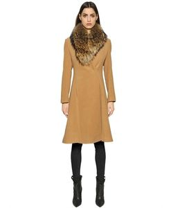 Ava Adore | Camel Coat With Murmasky Fur