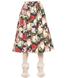 Blugirl | Rose Printed Techno Jacquard Skirt