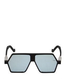 Vava | Mirrored Geometric Mask Sunglasses