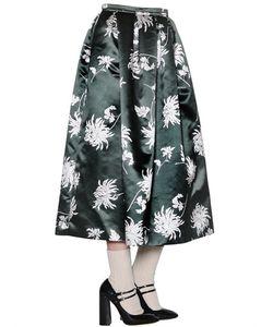 Rochas | Floral Printed Duchesse Skirt