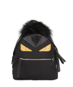 Fendi | Mini Monster Backpack With Fur