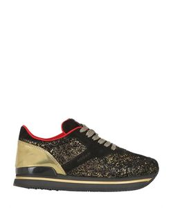 Hogan | 50mm H222 Glitter Leather Sneakers