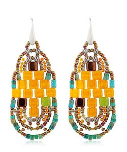 Ziio | Pixel Orange Beaded Earrings