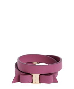 Salvatore Ferragamo | Doubled Leather Bracelet W Bow