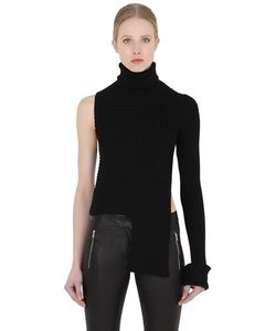 Alyx | Asymmetrical Ribbed Turtleneck Sweater