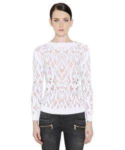 Balmain | Destroyed Cotton Knit Sweater
