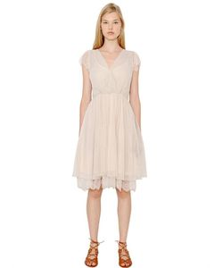 Blugirl | Techno Swiss Dot Tulle Lace Dress