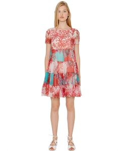 Blugirl | Coral Printed Silk Crepon Dress