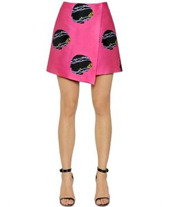 Caterina Gatta | Virginia Woolf Print Techno Sable Skirt