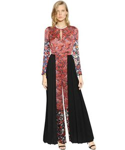 Caterina Gatta | Printed Viscose Satin Jumpsuit