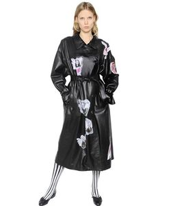 Claire Barrow | Printed Nappa Leather Trench Coat