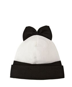 Federica Moretti | Wool Beanie Hat With Bow
