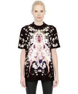 Givenchy | Floral Madonna Printed Silk Satin Top