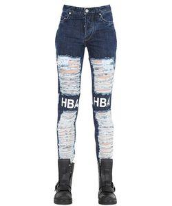 Hood By Air | Shredded Cotton Denim Jeans