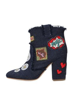 Laurence Dacade | 95mm Patches Denim Ankle Boots