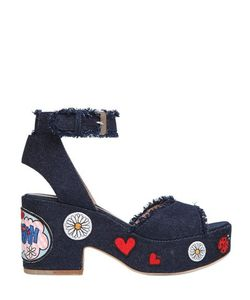 Laurence Dacade | 95mm Patches Denim Sandals