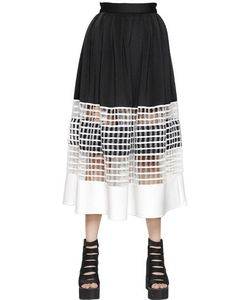 Natargeorgiou | Neoprene Cotton Net Skirt