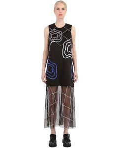 Natargeorgiou | Neoprene Tulle Embroidered Dress