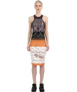 Natargeorgiou | Lurex Laser Cut Silk Lace Dress