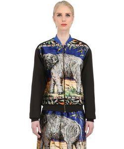 Natargeorgiou | Neoprene Cotton Velvet Bomber Jacket