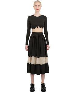 Natargeorgiou | Neoprene Techno Chiffon Dress