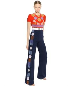 Peter Pilotto | Embroidered Crepe Jumpsuit