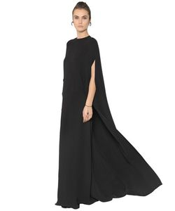 Valentino | Silk Cady Cape Maxi Dress