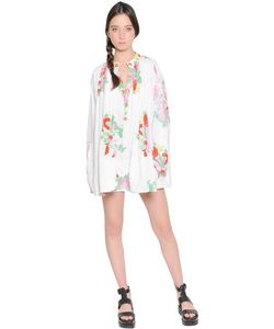 Yvonne S | Floral Printed Cotton Shirt Dress