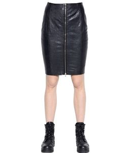Blk Dnm | Skirt 24 In Leather