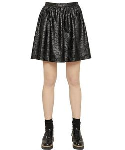 Blugirl | Faux Leather Lace Skirt