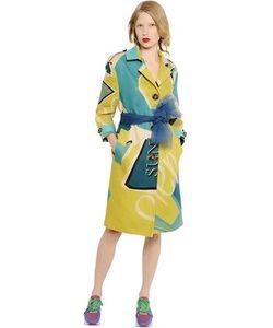 Burberry Prorsum | Artwork Printed Linen Canvas Coat