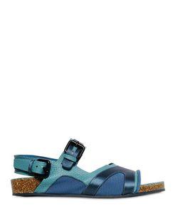 Burberry Prorsum | Leather Silk Satin Sandals