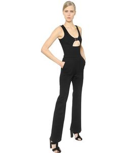 David Koma | Buckled Stretch Wool Crepe Jumpsuit