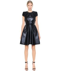 Dice Kayek | Pleated Nappa Leather Dress